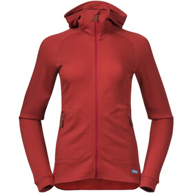 Bergans Tuva LT Hooded Wool Jacket Women red sand